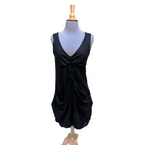 KILL Brand Argentina Black Ruched Mini Dress Med